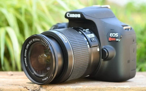 camara canon t7 profesional wifi 24.1mpx + lente 18-55 +32gb