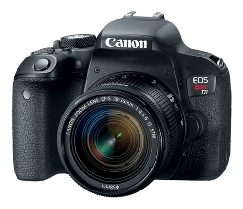 cámara canon t7i kit 18-55 is stm 24,2mpx wifi full hd