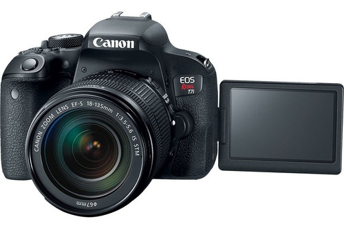 cámara canon t7i kit 18-55 is stm 24,2mpx wifi full hd.