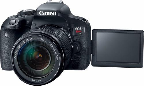 camara canon t7i  kit lente 18-55 + sd 16gb + bolso !!