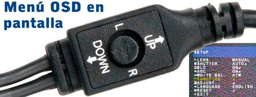 camara ccd sony 960h - 700tvl - osd - antivandálica - cvbs
