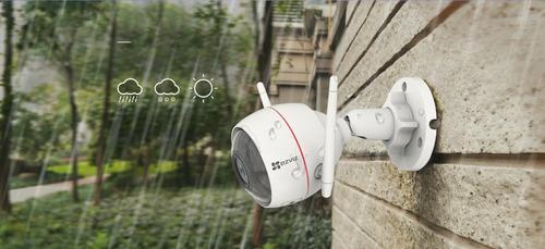 cámara cctv wifi ezviz husky air 1080p + alarma integrada