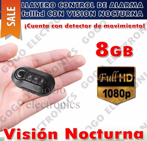camara control espia sensor de movimiento vision nocturna 8g