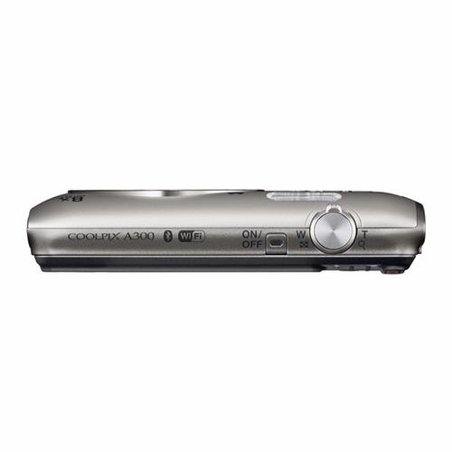 cámara coolpix a300 silver + sd memoria 16 gb + estuche