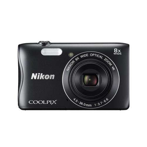 cámara coolpix s3700 negro + sd memoria 4 gb + estuche