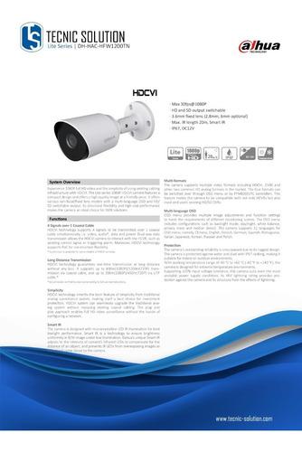 camara dahua tubo metalica 1080p   dh-hac-hfw1200tn