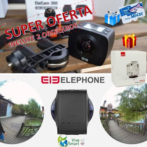 camara de accion 360 gopro elephone gratis obsequio