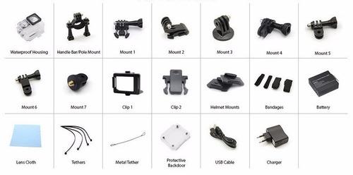 cámara de acción 4k wifi sumergible accesorios eken h9