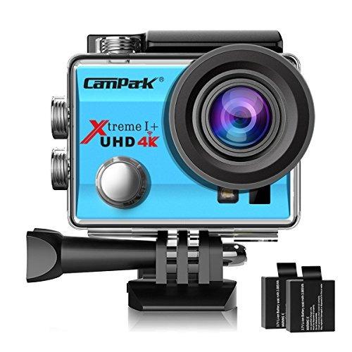 cámara de acción campark act74 4k wifi impermeable de los