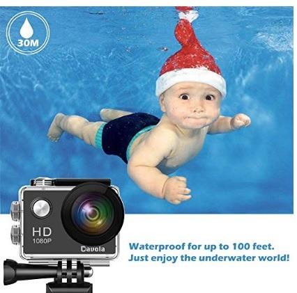 cámara de acción deportiva 1080p full hd impermeable