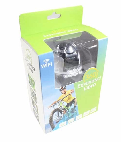 camara de acción deportiva 360° v1 wifi 4k 16mp sumergible