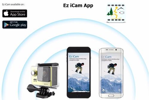 camara de accion deportiva 4k wifi h9 se  eken tipo pro