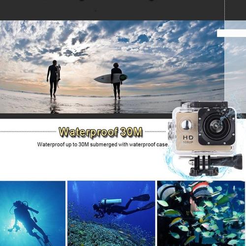 cámara de acción deportiva full hd 1080 p a prueba de agua