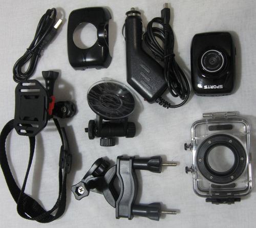 camara de accion extrema orbo nr22 hd + accesorios + bateria