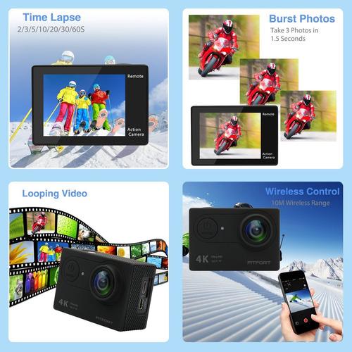 cámara de acción fitfort cámara 4k wifi ultra hd