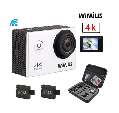 camara de accion wifi  4k 12mp+2 baterias+accesorios +gopro