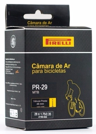 a63cf9434 Camara De Ar Pirelli Mtb Aro 29 Presta Fina 48mm Bike - R  27