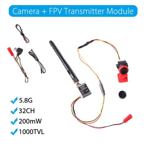 cámara de bolsillo de 1000 + 5.8g transmisor módulo fpv 200m