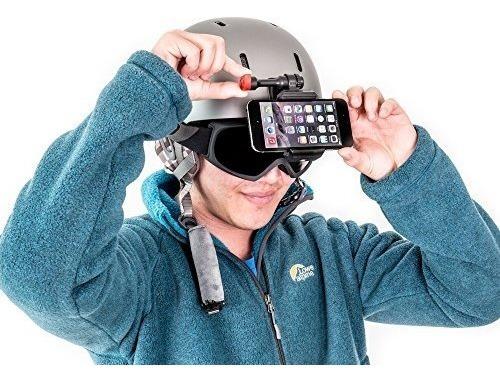 cámara de esquí para su casco, adhesivo adhesivo para su tel