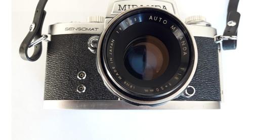 cámara de fotos miranda réflex sensomat re 50mm- retira caba