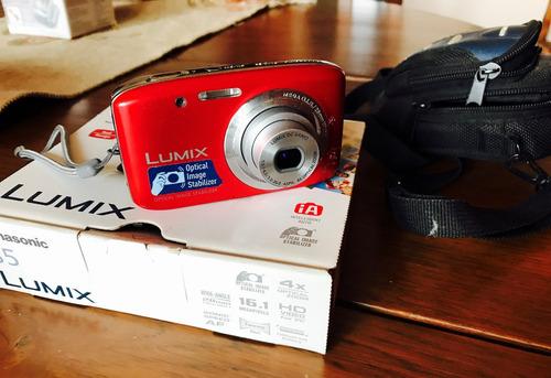 cámara de fotos panasonic lumix s5 con estuche. oportunidad!