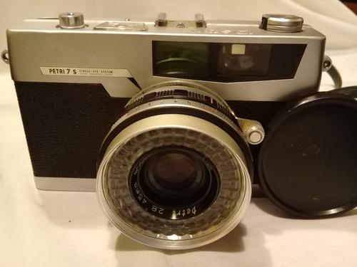 camara de fotos - petri 7s con lentes auxiliares