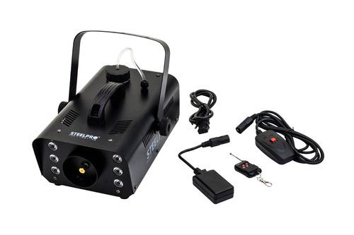 cámara de humo 900w, rgb 6 leds con control remoto steelpro.