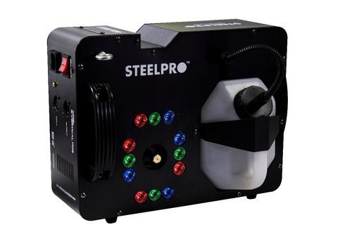 cámara de humo vertical 1250w led rgb 3l dmx512 steelpro.