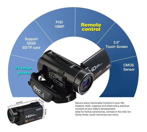 cámara de la videocámara, odgear portátil digital de vídeo d