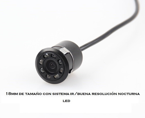 camara de retroceso luces led alta + espejo monitor !oferta