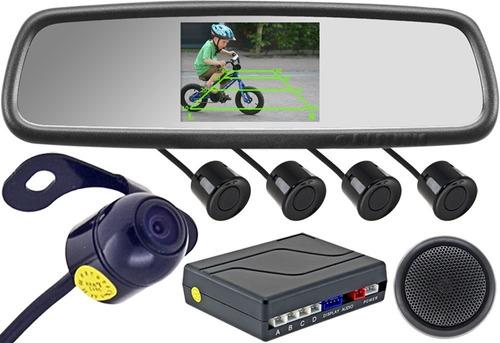 camara de retroceso, sensores y pantalla tipo retrovisor