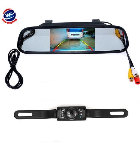 cámara de reversa visión nocturna con monitor para vehículos