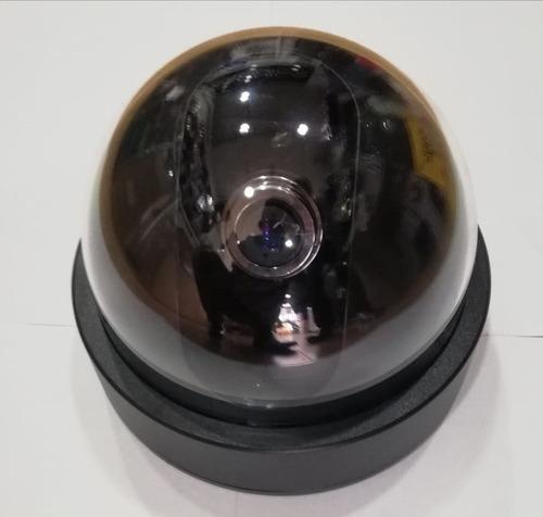 camara de seguridad falsa domo con lente cupula plastica
