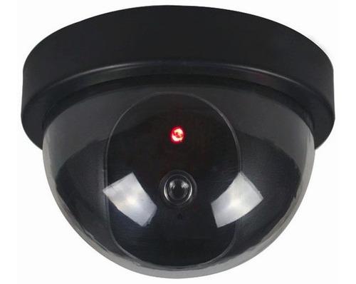 camara de seguridad falsa tipo domo c/ luz led simula real ®