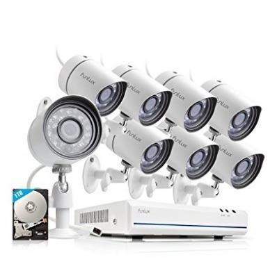 cámara de seguridad ip funlux 8 canales full hd disco de 1tb