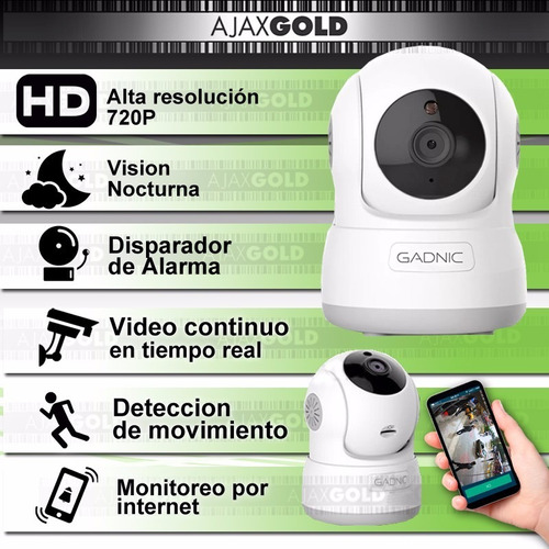 camara de seguridad ip motorizado p2p wifi led hd + 16 gb