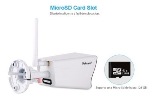camara de seguridad ip p2p hd 1080  wifi  exterior