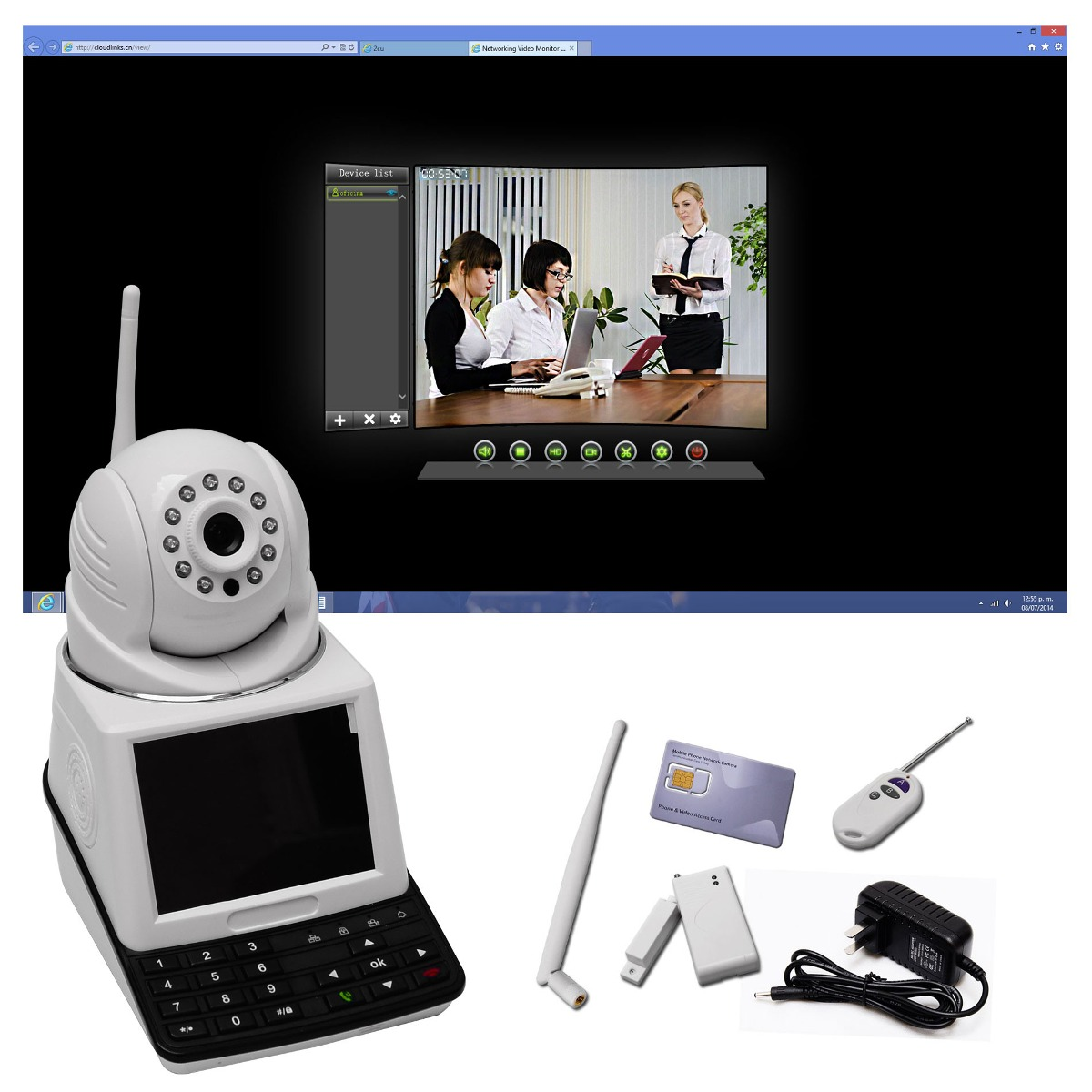 Camara de seguridad ip videollamada monitoreo con sim - Camara de seguridad ip ...