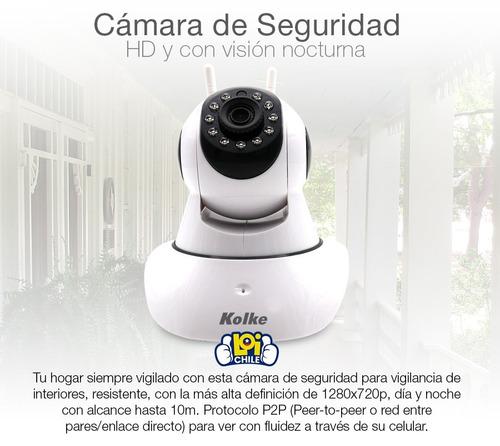 camara de seguridad ip wifi 1mp infrarojo sensor rotacion