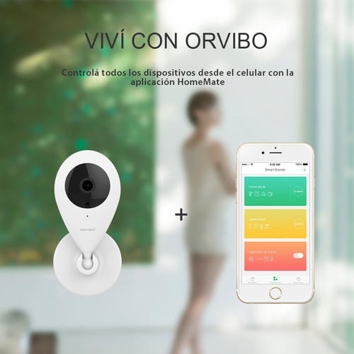 cámara de seguridad ip wifi orvibo domótica ios android