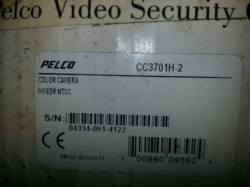 camara de seguridad pelco modelo cc3701h-2 mas lente