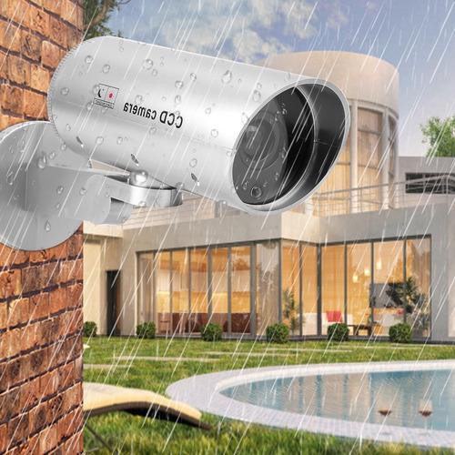 cámara de seguridad simulada ccd cámara giratoria falsa bala
