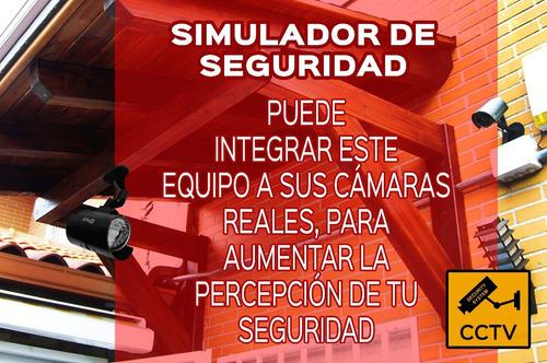 camara de seguridad simulada interior exterior led rojo