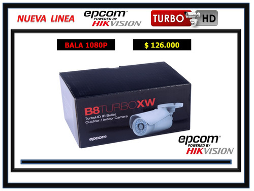 camara de seguridad turbo hd bala 1080p lente 2.8mm