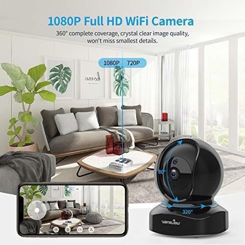 cámara de seguridad wansview q5-b detección movimiento 1080p