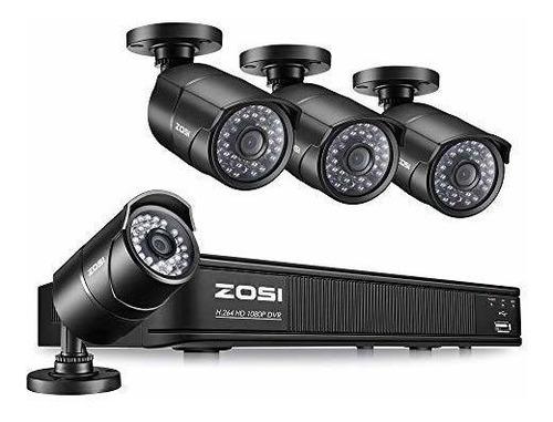 cámara de seguridad zosi 2.0 mp hd 1080p 1920tvl bullet para