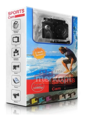 cámara de video 2'' wifi sumergible sports 1080p hd