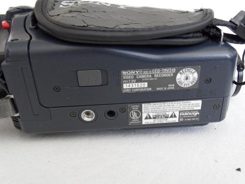 camara de video 8 mm sony ccd-trv318 bolsa
