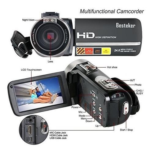camara de video besteker 1080p visión nocturna micrófono