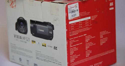 cámara de video canon vixia hfs21